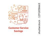 customer service savings... | Shutterstock .eps vector #1291858663