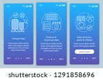 hotel booking onboarding mobile ... | Shutterstock .eps vector #1291858696