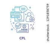 cpl concept icon. customer... | Shutterstock .eps vector #1291858759