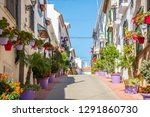 a typical street in old city... | Shutterstock . vector #1291860730