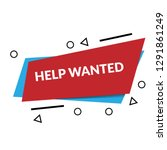help wanted sign  emblem  label ...