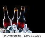 cold bottles and fresh beer...   Shutterstock . vector #1291861399