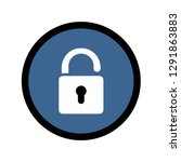 opened up lock icon  symbol on... | Shutterstock .eps vector #1291863883