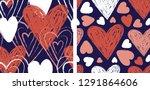 heart seamless pattern. vector...   Shutterstock .eps vector #1291864606