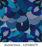 blue abstract pattern with lines | Shutterstock .eps vector #129186479