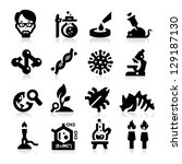 science and research icons | Shutterstock .eps vector #129187130