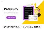 landing page template. modern... | Shutterstock .eps vector #1291875856
