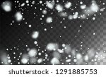 realistic snowflakes background.... | Shutterstock .eps vector #1291885753