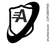 shield and letter a. logo...