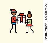 family life flat icon vector... | Shutterstock .eps vector #1291886029