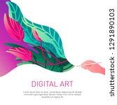 vector digital illustration... | Shutterstock .eps vector #1291890103