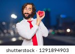 young crazy man valentine s day ...   Shutterstock . vector #1291894903