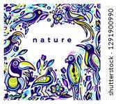 vector color template of wild... | Shutterstock .eps vector #1291900990
