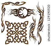 vector set of gothic and celtic ... | Shutterstock .eps vector #129190520
