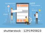 app development illustrations.... | Shutterstock . vector #1291905823