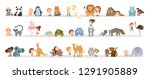 cute babies playing with...   Shutterstock . vector #1291905889