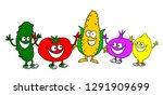 funny illustration of various... | Shutterstock .eps vector #1291909699