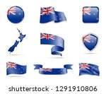 new zealand flags collection.... | Shutterstock .eps vector #1291910806