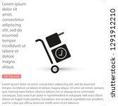 handcart vector icon   Shutterstock .eps vector #1291912210