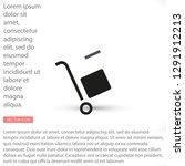 handcart vector icon   Shutterstock .eps vector #1291912213