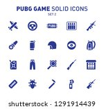 pubg game glyph icons. vector... | Shutterstock .eps vector #1291914439