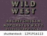3d font handcrafted vector... | Shutterstock .eps vector #1291916113