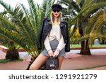 outdoor fashion image of... | Shutterstock . vector #1291921279