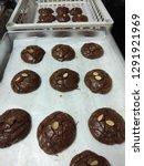 crinkle brownie cookies with... | Shutterstock . vector #1291921969