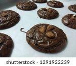 crinkle brownie cookies with... | Shutterstock . vector #1291922239