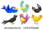 illustration of birds with... | Shutterstock .eps vector #129192668