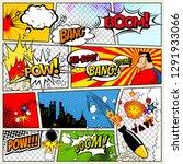 comics template.  retro comic... | Shutterstock . vector #1291933066