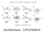 cooking instructions. manual... | Shutterstock .eps vector #1291936819