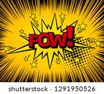 background with boom comic book ... | Shutterstock . vector #1291950526