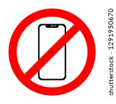 no cell phone sign. smartphone ...   Shutterstock . vector #1291950670