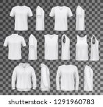 t shirt templates  hoodie and... | Shutterstock .eps vector #1291960783