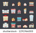 modern trendy retro house... | Shutterstock . vector #1291966303