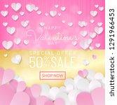 valentines day sale background... | Shutterstock .eps vector #1291966453