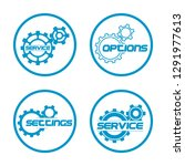 set service icons image of...   Shutterstock .eps vector #1291977613