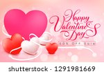 happy valentine's day 50  off... | Shutterstock .eps vector #1291981669