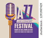 vector poster for a jazz... | Shutterstock .eps vector #1291987429