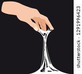 sticky slime  reaching for... | Shutterstock .eps vector #1291996423