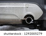 exhaust fumes smoke from car... | Shutterstock . vector #1292005279
