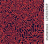 circuit board seamless pattern  ...   Shutterstock .eps vector #1292015419