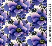 seamless pattern with... | Shutterstock . vector #1292016133