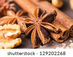 star anise  walnut  brown sugar ... | Shutterstock . vector #129202268