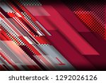 red and grey background with... | Shutterstock .eps vector #1292026126