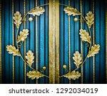 wrought iron gates  ornamental... | Shutterstock . vector #1292034019