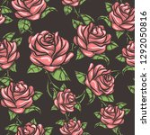 seamless floral pattern with... | Shutterstock .eps vector #1292050816