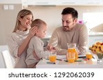 family drawing together in... | Shutterstock . vector #1292062039