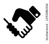 deal commitment handshake... | Shutterstock .eps vector #1292080336